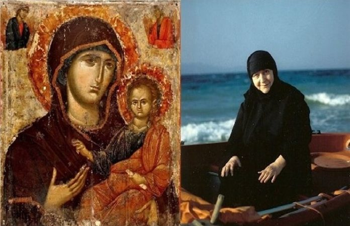 Μία γυναίκα που μοιάζει με την Παναγία κάθεται εδώ στο παγκάρι» - Ιερά  Μονοπάτια